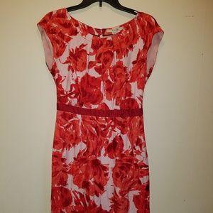 Boden Floral Silk Blend Dress US Size 6